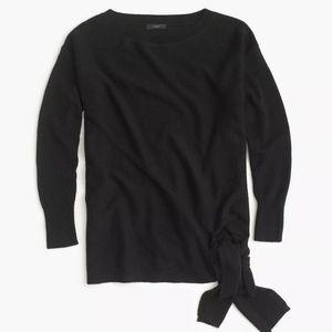 J Crew Tie Waist Boatneck Tunic Sweater XXS Wool